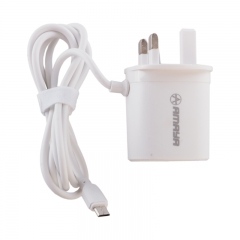 Amaya Charger 2USB Port Fast Charging Charger white one size