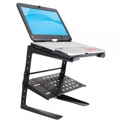 Portable adjustable DJ laptop stand black normal