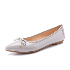 Elegant Women Pointy Slip On Flats Size 35-41 Lady Court Office Shoes Casual Leisure Ballerinas grey 41