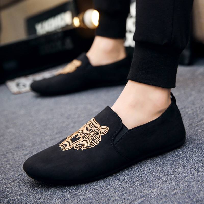 Men s fashion Loafers Slip-Ons casual shoes Breathable and Comfortable Lazy  shoes Driving shoes black 39  Product No  2547739. Item specifics  Brand  181d800e27b