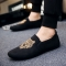 Men's fashion Loafers Slip-Ons casual shoes Breathable and Comfortable Lazy shoes Driving shoes black 43