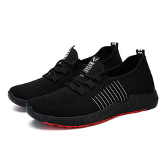 Men's sports shoes fashion Sneakers gym shoes running shoes Outdoor Travel shoes casual soft sole black 1 39