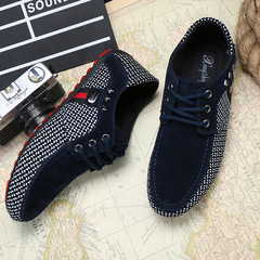 Men's fashion Loafers Slip-Ons casual Lazy shoes Driving shoes big size Noble Walking shoes male blue 39