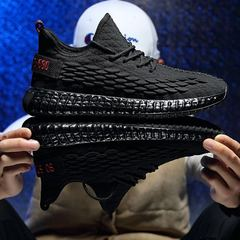 Men's sports shoes fashion Sneakers gym shoes running shoes Outdoor casual street style summer male black 39
