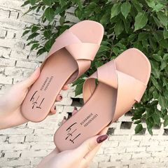 Women Shoes Women Slippers Ladies shoes durable Slip on fashion style Hot sale summer apricot 40
