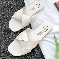 Women Shoes Women Slippers Ladies shoes durable Slip on fashion style Hot sale summer beige 39