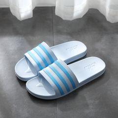 Women Shoes Women Slippers Ladies shoes Slip on fashion flat Hot sales summer Home bath Non-slip new BLUE 39