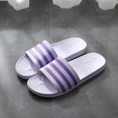 Women Shoes Women Slippers Ladies shoes Slip on fashion flat Hot sales summer Home bath Non-slip new purple 38