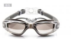 Professional Waterproof Anti-Fog UV Protect HD Swimming Goggles Swim Glasses Transparent &Black Adjustable