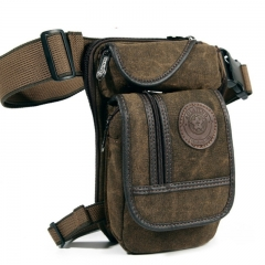 Men's Canvas Drop Leg  Waist Belt Hip Bum Military Travel Motorcycle Multi-purpose Messenger Bag as picture one size