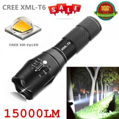 CREE XML-T6 15000lm LED Torch Zoomable Linternas Waterproof Flashlight Tactical Flashlight as picture one size