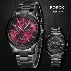 Men Casual Luxury Brand Full Steel Wrist Watches Quartz Clock Fashion Sport Watch Black&White one size