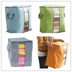 Large Clothes Bedding Duvet Zipped Pillows Non Woven Storage Bag Box Blue