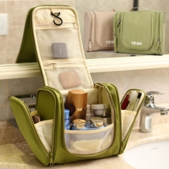 New Travel Toiletry Wash Cosmetic Bag Makeup Storage Case Hanging Grooming Pink