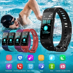Smart  Bluetooth V4.0 Wristband with Pedometer / Sleep Monitoring / Tracking Calorie/Remote Capture Black one size