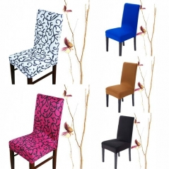 Fashion Multicolor Optional Soft Contracted Hotel Home Elastic Chair Cover Home & Living Black white one size