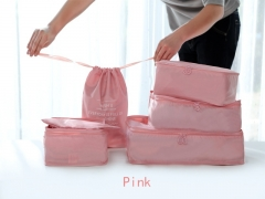 Arxus 6 Set Packing Cubes Travel Luggage Waterproof Organizers pink one size