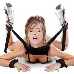 Adult Sex Games Accessories Bed Bondage Restraints Neck Hand Ankle Cuff Straps as picture one size