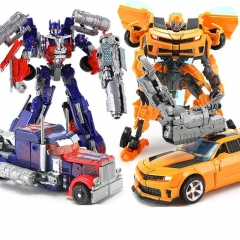 Hot Sale Movie 4 Super Leader Powermaster Optimus Prime Bumblebee Classic Car Robots Toy Kids Gift as picture A