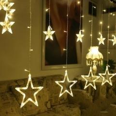 138-LEDs Star String LightDecorative Light for Christmas Partys Wedding New Year Decorations Warm white 2 meter 220V