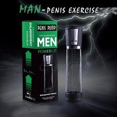 2018Electric Automatic Pump Enlargement Vibrator,Extender,USB Charging enhancement sex toy for Men Black one size