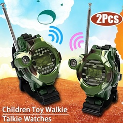 Kids Children Toys Gift Outdoor Games Walkie Talkie Girls Boys Watches Interphone Christmas Gift Green one size