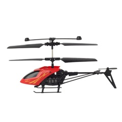 Mini RC Helicopter Radio-controlled Flying Kids Toys Small Electric Infrared Aircraft 2CH YLL903 Red prime