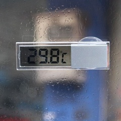 Vehicle Thermometer Display Temperature Type LCD Celsius Fahrenheit for Car as picture one size