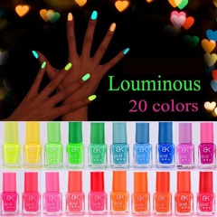 20 Candy Colors  Glow in Dark Nail Varnish Art Luminous Nail Polish Fluorescent Light For Beauty 20 pcs