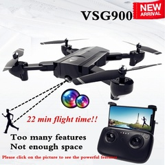 SG900 Rc Drone Folding GPS 1080P HD FPV Wide-Angle Camera 360° RotationGesture black one size