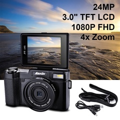 Amkov 24MP 3.0\ TFT LCD Flip Screen 1080P FHD Digital Camera UV Lens Filter, Built-in Flash LF766