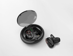Portable charging box Wireless Bluetooth earbuds,Two ears separated Bluetooth headset black