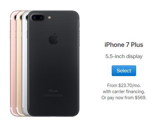 smart phones 32GB+3GB 12MP+7MP 5.5 inch apple mobile with fingerprint iphone7 plus smartphones black