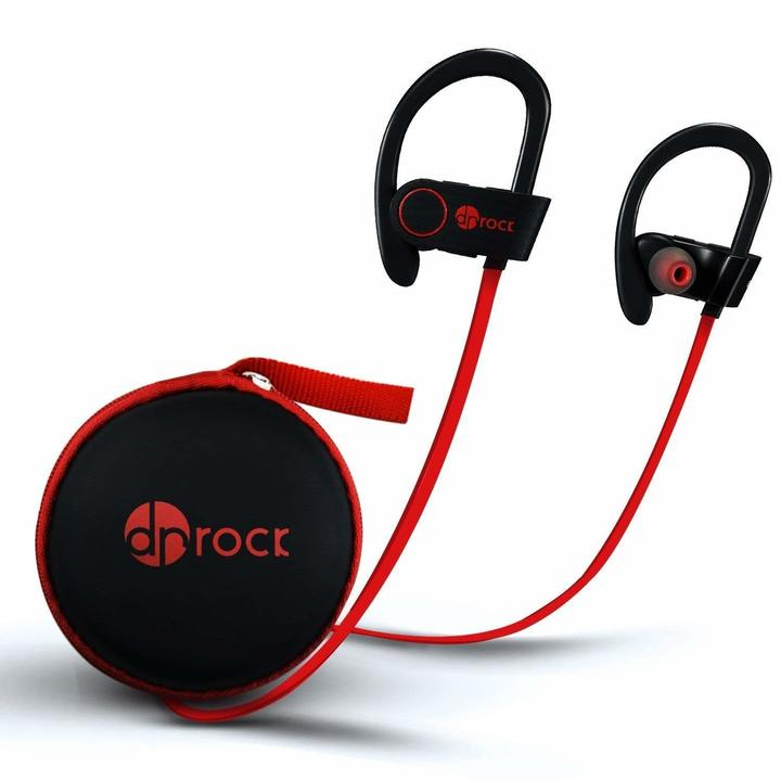 Earphones  Headset Sports waterproof music bluetooth headset red