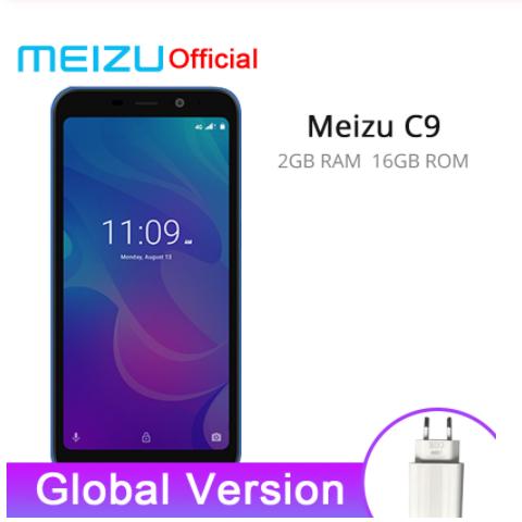 Meizu C9 2GB 16GB Smartphones Quad Core 5.45 inch 1440X720P Front 8MP /13MP Camera 3000mAh Battery black