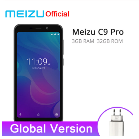 Meizu C9 Pro 3GB 32GB smart phones Quad Core 5.45'' Smartphone Front 13MP Rear 13MP 3000mAh Battery black