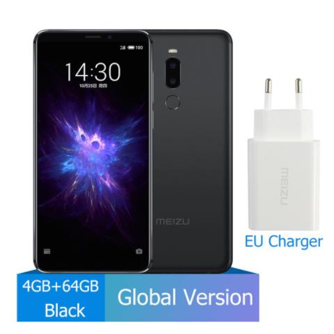 Meizu Note 8 4GB 64GB smart phones  632 Octa Core Note8 Smartphone Full Metal Body Dual Rear Camera black