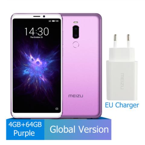 Meizu Note 8 4GB 64GB smart phones  632 Octa Core Note8 Smartphone Full Metal Body Dual Rear Camera purple