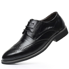High-end boutique men's shoes Fashion men's leather shoes Business shoes Wedding shoes casual shoes black 39 Cowhide