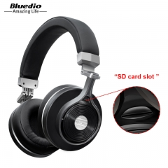 Bluedio T3 Plus Wireless Bluetooth Headphones/headset with Microphone/Micro SD Card Slot bluetooth black