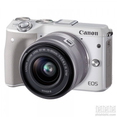 CANON M3 CAMERA; White;15-45mm; IS STM LENS;Contain Chinese Invoices