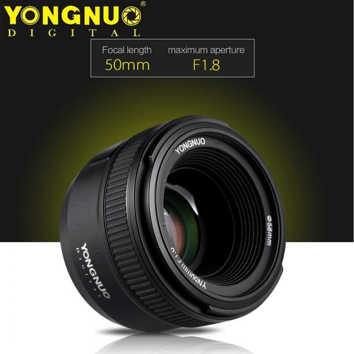 YONGNUO YN50mm F1.8 Large Aperture Auto Focus Lens For Nikon black For Nikon