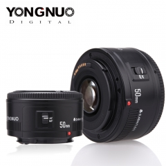YONGNUO Lens YN50mm f1.8 YN EF 50mm f/1.8 AF Lens YN50 Aperture Auto Focus Lens for Canon black 1