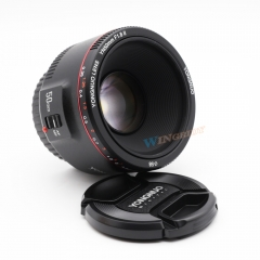 YONGNUO YN50mm F1.8 II Large Aperture Auto Focus Lens for Canon Bokeh Effect Camera Lens for Canon black one size