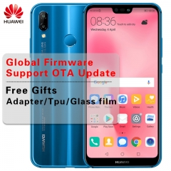 Huawei P20 Lite Global Firmware 4G LTE Smartphone Nova 3e Face ID 5.84 ''Full View Screen 2280*1080P 4g+64g(blue)