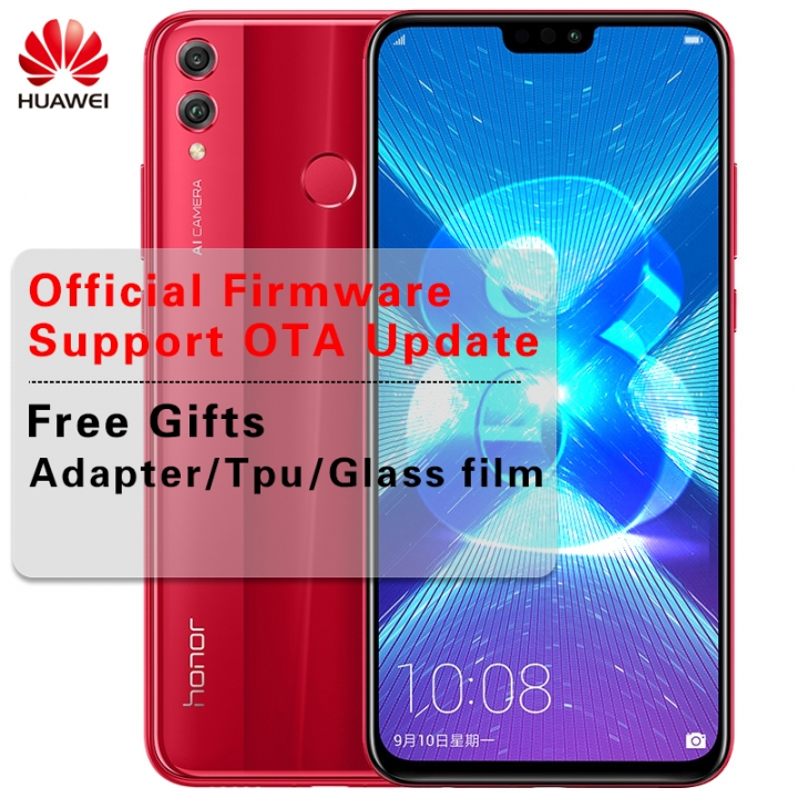 Huawei Honor 8X honor8X 6 5 inch OTA Update LTE Smartphone Android 8 1 Octa  Core 1 5GHz 6 5 Inch 4g+64g(blue)