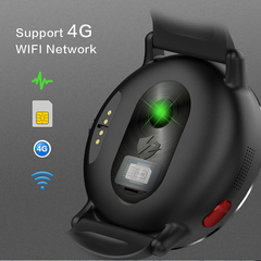LEMFO LEM X 4G Smart Watch Android 7.1 With 8MP Camera GPS 2.03 inch Screen 900Mah black global version