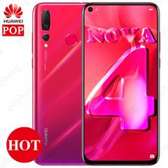 HUAWEI Nova 4 Mobile Phone 6.4 inch Kirin 970 Octa Core Android 9.0 LTE IPS 2310X1080 8GB/128GB ROM white