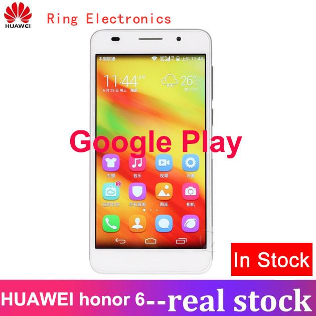 Global Firmware Refurbished Huawei honor 6 3GB +16GB  -5''screen-13+5MP-Double SIM Smartphone white 3gb+32gb