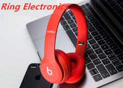 Beats by dre/Solo3 Bluetooth wireless Music Cool Fashion Headset earphone Headphone red